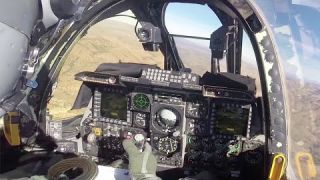 Rare Video of A-10 Thunderbolt II Interior Cockpit View - US Air Force Over Arizona Sky